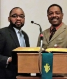Elders Peter Gray and Andre Brown