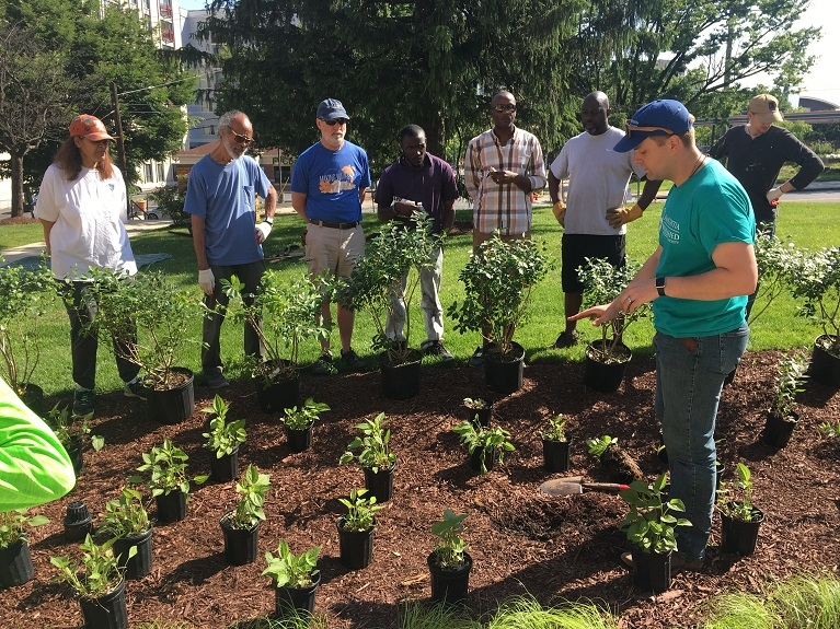 photo from Rain Garden Planting Event