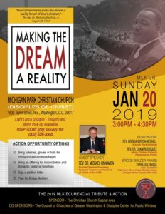 """Making the Dream a Reality"", January 20 @Michigan Park Christian Church"